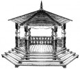 Беседка со ступенями :: Беседки изготовленные из благородных пород дерева, можно заказать по телефонам: 8 (495) 783-65-09, 8 (495) 518-64-87