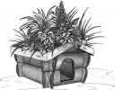 Цветочница - Будка :: Цветочницы из дерева, Вы можете заказать по телефонам: 8 (495) 783-65-09, 8 (495) 518-64-87