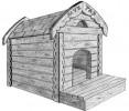 Будка для собаки - Мухтар :: Заказать изготовление будок для собак Вы можете по телефонам: 8 (495) 783-65-09, 8 (495) 518-64-87