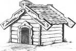 Будка для собаки - По-деревенски А :: Заказать изготовление будки для собаки Вы можете по телефонам: 8 (495) 783-65-09, 8 (495) 518-64-87