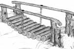 Мостик - Подвесной :: Мостики изготовленные из дерева, Вы можете заказать по телефонам: 8 (495) 783-65-09, 8 (495) 518-64-87