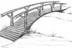 Мост через реку :: Мостики изготовленные из дерева, Вы можете заказать по телефонам: 8 (495) 783-65-09, 8 (495) 518-64-87