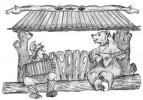 Теневой навес - Мужичок с гармошкой (авторская работа) :: Заказать теневые навесы из дерева различных моделей, Вы можете по телефонам: 8 (495) 783-65-09, 8 (495) 518-64-87