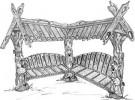 Теневой навес - Болтуны (авторская работа) :: Заказать теневые навесы из дерева различных моделей, Вы можете по телефонам: 8 (495) 783-65-09, 8 (495) 518-64-87