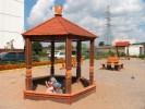 Песочница - Беседка :: Детские песочницы изготовленные из дерева, Вы можете купить/заказать по телефонам: 8 (495) 783-65-09, 8 (495) 518-64-87