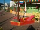Песочница - Кораблик малыш :: Детские песочницы изготовленные из дерева, Вы можете купить/заказать по телефонам: 8 (495) 783-65-09, 8 (495) 518-64-87