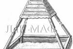 Песочница - Пирамида :: Детские песочницы изготовленные из дерева, Вы можете купить/заказать по телефонам: 8 (495) 783-65-09, 8 (495) 518-64-87