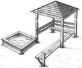 Песочница с беседкой :: Детские песочницы изготовленные из дерева, Вы можете купить/заказать по телефонам: 8 (495) 783-65-09, 8 (495) 518-64-87