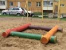Песочница - Бревнышки :: Детские песочницы изготовленные из дерева, Вы можете купить/заказать по телефонам: 8 (495) 783-65-09, 8 (495) 518-64-87