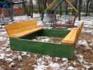 Песочница с крышкой (средняя) :: Детские песочницы изготовленные из дерева, Вы можете купить/заказать по телефонам: 8 (495) 783-65-09, 8 (495) 518-64-87