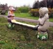 Скамья - Слоненок и бегемотик :: Скамейки и лавки изготовленные из дерева, можно заказать по телефонам: 8 (495) 783-65-09, 8 (495) 518-64-87