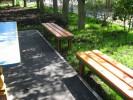 Скамья - Прямая короткая :: Скамейки и лавки изготовленные из дерева, можно заказать по телефонам: 8 (495) 783-65-09, 8 (495) 518-64-87