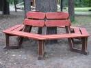 Скамья - Шестигранная :: Скамейки и лавки изготовленные из дерева, можно заказать по телефонам: 8 (495) 783-65-09, 8 (495) 518-64-87