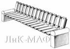 Скамья с бетонными тумбами короткая :: Скамейки и лавки изготовленные из дерева, можно заказать по телефонам: 8 (495) 783-65-09, 8 (495) 518-64-87