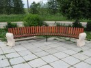 Скамья - Парковый диван полукруглый :: Скамейки и лавки изготовленные из дерева, можно заказать по телефонам: 8 (495) 783-65-09, 8 (495) 518-64-87