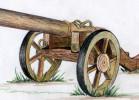Скульптура - Пушка Бородино :: Заказать изготовление скульптур из дерева, Вы можете по телефонам: 8 (495) 783-65-09, 8 (495) 518-64-87