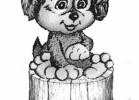Скульптура - Щенок (большая) :: Заказать изготовление скульптур деревянных, Вы можете по телефонам: 8 (495) 783-65-09, 8 (495) 518-64-87