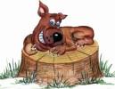 Скульптура - Собака злая (средняя) :: Заказать изготовление скульптур из дерева, Вы можете по телефонам: 8 (495) 783-65-09, 8 (495) 518-64-87