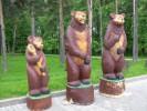 Скульптура - Мишка косолапый (средняя) :: Заказать изготовление скульптур из дерева, Вы можете по телефонам: 8 (495) 783-65-09, 8 (495) 518-64-87