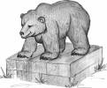 Скульптура - Мишка косолапый брус клееный наборный :: Заказать изготовление скульптур из дерева, Вы можете по телефонам: 8 (495) 783-65-09, 8 (495) 518-64-87