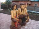 Скульптура - Три разбойника (большая) :: Заказать изготовление скульптур из дерева, Вы можете по телефонам: 8 (495) 783-65-09, 8 (495) 518-64-87