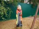 Скульптура - Богатырь (большая) :: Заказать изготовление скульптур из дерева, Вы можете по телефонам: 8 (495) 783-65-09, 8 (495) 518-64-87