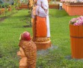 Скульптура - Алёнушка (средняя) :: Заказать изготовление скульптур деревянных, Вы можете по телефонам: 8 (495) 783-65-09, 8 (495) 518-64-87