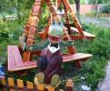 Скульптура - Крокодил Гена (средняя) :: Заказать изготовление скульптур из дерева, Вы можете по телефонам: 8 (495) 783-65-09, 8 (495) 518-64-87