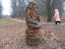 Скульптура - Гусляр (большая) :: Заказать изготовление скульптур из дерева, Вы можете по телефонам: 8 (495) 783-65-09, 8 (495) 518-64-87