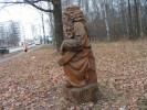 Скульптура - Гусляр (средняя) :: Заказать изготовление скульптур из дерева, Вы можете по телефонам: 8 (495) 783-65-09, 8 (495) 518-64-87