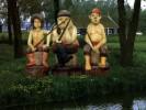 Скульптура - Три разбойника (маленькая) :: Заказать изготовление скульптур из дерева, Вы можете по телефонам: 8 (495) 783-65-09, 8 (495) 518-64-87