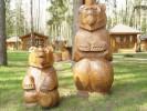 Скульптуры - Мишки 1 шт. (большая) :: Заказать изготовление скульптур из дерева, Вы можете по телефонам: 8 (495) 783-65-09, 8 (495) 518-64-87