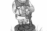 Скульптура - Шрек (большая) :: Заказать изготовление скульптур из дерева, Вы можете по телефонам: 8 (495) 783-65-09, 8 (495) 518-64-87
