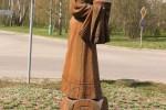 Скульптура - Русская красавица с хлебом-солью (средняя) :: Заказать изготовление скульптур из дерева, Вы можете по телефонам: 8 (495) 783-65-09, 8 (495) 518-64-87