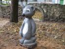 Скульптура - Мышка (средняя) :: Заказать изготовление скульптур из дерева, Вы можете по телефонам: 8 (495) 783-65-09, 8 (495) 518-64-87