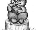 Скульптура - Медвежонок (большая) :: Заказать изготовление скульптур из дерева, Вы можете по телефонам: 8 (495) 783-65-09, 8 (495) 518-64-87
