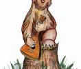 Скульптура - Мишка музыкант (большая) :: Заказать изготовление скульптур из дерева, Вы можете по телефонам: 8 (495) 783-65-09, 8 (495) 518-64-87