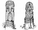 Столбики-скульптуры 1 :: Проконсультироваться и купить резные столбы(из дерева), Вы можете по телефонам: 8 (495) 783-65-09, 8 (495) 518-64-87