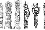 Столбики-скульптуры 2 :: Заказать изготовление резных столбов из дерева можно по телефонам: 8 (495) 783-65-09, 8 (495) 518-64-87