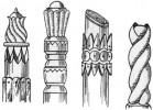 Столбы - Резные д, е, ж, з 1 шт. :: Заказать изготовление резных столбов из дерева можно по телефонам: 8 (495) 783-65-09, 8 (495) 518-64-87