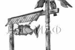 Входные ворота - для рыболовов :: Входные ворота изготовленные из дерева, заказать данную продукцию Вы можете по телефонам: 8 (495) 783-65-09, 8 (495) 518-64-87