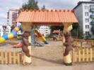Входные ворота - Мишки :: Входные ворота изготовленные из дерева, заказать данную продукцию Вы можете по телефонам: 8 (495) 783-65-09, 8 (495) 518-64-87