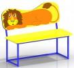 Скамейка со спинкой - Львенок :: Вы можете заказать скамейки и лавочки у наших менеджеров по телефонам: 8 (495) 783-65-09, 8 (495) 518-64-87