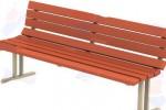 Скамейка со спинкой :: Вы можете проконсультироваться и заказать скамейки и лавочки по телефонам: 8 (495) 783-65-09, 8 (495) 518-64-87