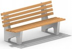 Скамейка с бетонным основанием :: Вы можете проконсультироваться и заказать скамейки и лавочки по телефонам: 8 (495) 783-65-09, 8 (495) 518-64-87