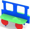 Скамейка - Паравозик 2 :: Вы можете заказать скамейки и лавочки у наших менеджеров по телефонам: 8 (495) 783-65-09, 8 (495) 518-64-87