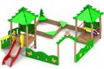 Песочный дворик - Елки(с горкой) :: Заказать песочницы и песочный дворики, Вы можете по телефонам: 8 (495) 783-65-09, 8 (495) 518-64-87