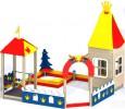 Песочный дворик - В домике(без горки) :: Заказать изготовление песочниц и песочных двориков, Вы можете по телефонам: 8 (495) 783-65-09, 8 (495) 518-64-87